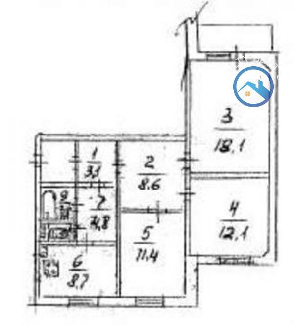 Продажа 3-комнатной квартиры, Донецк, Савченко